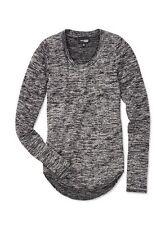 "Aritzia WILFRED FREE Heather Black ""DIAPASON"" Knit Jersey T-SHIRT, Size S/M"