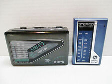 GPX AM FM Cassette Player C3077 & GE AM FM Radio 7-1625 with 1 Headset