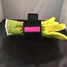Horizontal Work Glove Keeper For Duty Belt Pink Reflective EMT Medic Police