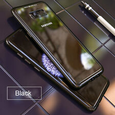 Magnetic Absorption Metal Case Tempered Glass Cover For Samsung S9 Plus Note8 S8
