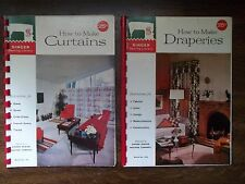 Vintage 1960 Singer Curtains Draperies Books Lot of 2 Spiral Bound Exc. Cond.