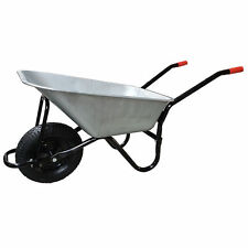 Wheelbarrow Large Galvanised Pneumatic Tyre DUK 100 L - 180 KG ALL STEEL NEW
