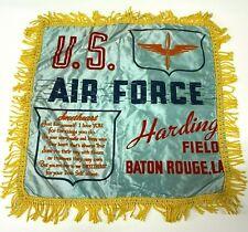 VTG WW2 Satin Pillow case sham Harding Field Baton Rouge US Army Air Force  - P2