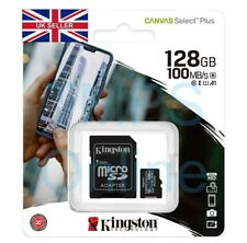 Kingston Micro SD Card 128GB Class 10 Canvas Plus SDHC SDXC Memory & Adapter