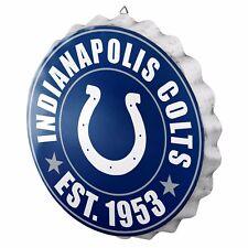 "Indianapolis Colts Bottle Cap Sign - Est 1953 - Room Bar Decor NEW 13.5"""
