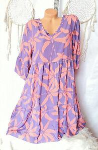 Italy Oversize Hippie Boho Hängerchen Tunika Kleid,Blusekleid  38,40.42NEU K-003