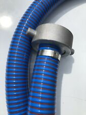 Portable Toilet Vacuum Tanker Waste Water Hose Pipes URT Alloy Coupling 5mt