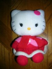 """Hello Kitty 6.5"""" Sitting Plush w/Red & Pink Winter Wear Stitched Eyes & Nose"""