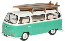 OXFORD 1/76 VW Bus Abedul Verde/Blanco Tabla de Surf #76vw007