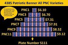 US 4385 Patriotic Banner Presorted Standard PNC1 PNC3 PNC5 PNC7 PNC9 PNC11 2009