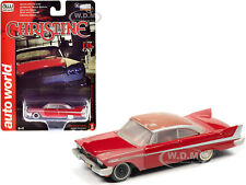 "1958 Plymouth Fury Partially Restored ""Christine"" 1/64 Diecast Autoworld Awsp039"