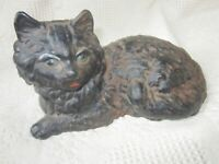 Antique Hubley Cast Iron Door stop Persian Cat