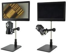 Microscopio Zoom Digital con pantalla & Anillo De Led Doble, salida HDMI, USB y SD