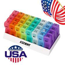 31 Days Medicine Container Holder Monthly Tablet Pill Sorter Case Organizer Box