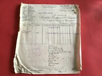 Houlder Brothers & Co Ltd London Shipment Charges  1937   receipt R36571