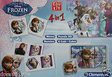 Disney Frozen Die Eiskönigin Spielekoffer 4 in 1 von Clementoni Neu OVP