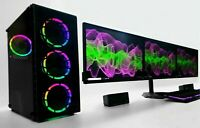 Triple Monitors Gaming RGB PC Computer SET i5 16 GB 480 GB SSD HDD RTX GTX Wifi