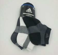 3 Pair Adidas Low Cut Socks, Men's Shoe Size 6-12, Gray, White, Black S5