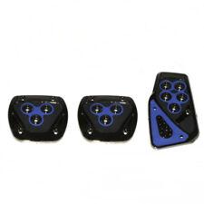 3x Non Slip Sport Pad Blue Pedal Foot Covers For Fiat 500 Panda Uno Grande Punto