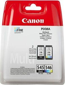 Genuine Original Canon PG545 Black & CL546 Colour Ink Cartridge Multi Combo Pack