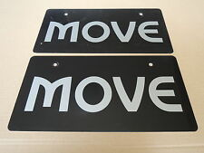 JDM DAIHATSU MOVE Original Dealer Showroom Display License Plates #2 Pair