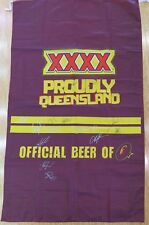 .WOW SUPER RARE / HUGE / QLD STATE OF ORIGIN / SIGNED XXXX BANNER 16 SIGNATURES