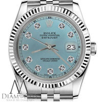 Ladies Rolex 26mm Datejust Diamond Dial Jubilee Steel & 18K White Gold Watch