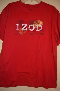 IZOD-BOYS SIZE M(10/12)-LICENSED SHORT SLEEVE TEE-NWOT-RED