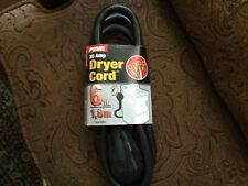 prime DYER 4-Wire 6 feet Black Electric Power Cord 4-Prong 30A 1.8m