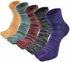 5 Pairs Cotton Five Finger Toe Socks for Men Breathable Athletic Sports Trainer