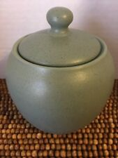 Noritake Stoneware Speckled COLORWAVE GREEN Sugar Container 3.25""