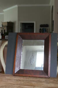 Early Antique Federal Ogee Mirror Looking Glass All Original