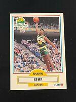 1990-91 Fleer Shawn Kemp Rookie Card #178 Seattle Supersonics