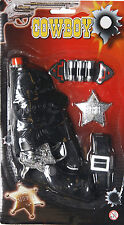 Cowboy Cowgirl Fancy Dress Toy Pistol, Gun, Holster, Bullets + Belt 7 Piece Set