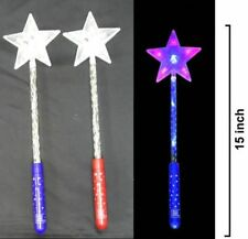 4 DELUXE MULI FUNCTION LIGHT UP STAR WAND girls toys princess dressup novelty