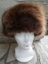 CHAPEAU VINTAGE SOVIETIQUE FOURRURE DE RAT MUSQUE T.57 FABRICATION ARTISANALE