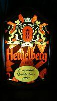 Vintage Light Up 1980's Heidelberg Beer Sign, Bar, Pub, Man or Women Cave #T78