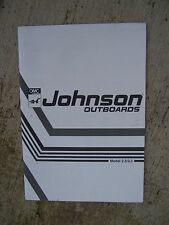 1991 Johnson Outboard Motor 2.3 3.3  Owner Operator Manual  MORE IN OUR STORE  S