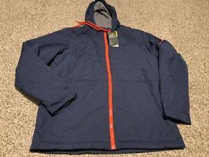 Under Armour Storm Insulated Full Zip Jacket Hoodie Men's Sz Medium Navy/Orange