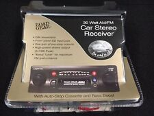 Vintage High Power AM-FM Cassette Car Radio W/Front Panel Aux Input - Car Stereo