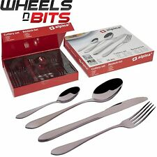 16 HEAVY STRONG CUTLERY SET STAINLESS STEEL TABLEWARE DINING KNIVES FORKS SPOONS