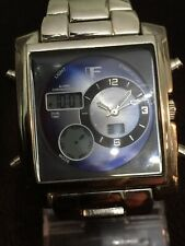 JF Men's Watch Digital And Analog All Working Perfect Blue Face Square Case.B124