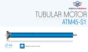 ATM45S Alpina Tubular Motors for Roller Shades, Awnings and Rollup Shutters,50NM