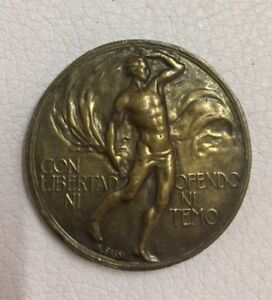 Uruguay Bronze Medal Inauguration Of Monument To Montevideo 1923 35mm 21g