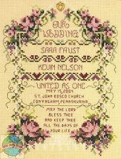 Cross Stitch Kit ~ Janlynn United As One Marriage Wedding Record #080-0461