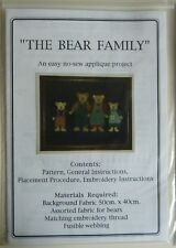 Patchwork Quilting Pattern - The Bear Family by Annette L. Packett