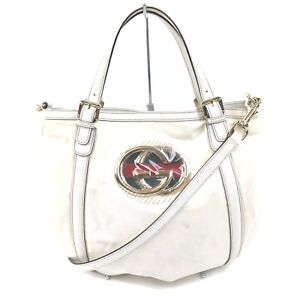 Gucci Hand Bag  Whites PVC 841222