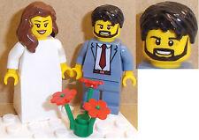 Lego novia y el novio Minifiguras elección de pelo Cabezas. Flores o trajes disponibles