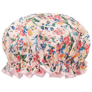 Waterproof Shower Cap with Elastic Binding - Floral