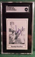 1978 Grand Slam Sandy Koufax Graded SGC CERTIFIED AUTOGRAPH Brooklyn LA Dodgers